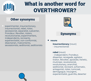 overthrower, synonym overthrower, another word for overthrower, words like overthrower, thesaurus overthrower