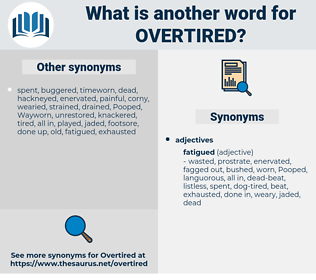 overtired, synonym overtired, another word for overtired, words like overtired, thesaurus overtired
