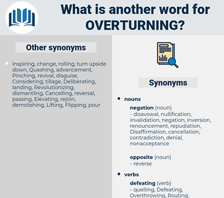Overturning, synonym Overturning, another word for Overturning, words like Overturning, thesaurus Overturning