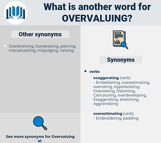 Overvaluing, synonym Overvaluing, another word for Overvaluing, words like Overvaluing, thesaurus Overvaluing