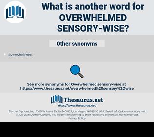 overwhelmed sensory-wise, synonym overwhelmed sensory-wise, another word for overwhelmed sensory-wise, words like overwhelmed sensory-wise, thesaurus overwhelmed sensory-wise