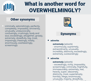 overwhelmingly, synonym overwhelmingly, another word for overwhelmingly, words like overwhelmingly, thesaurus overwhelmingly