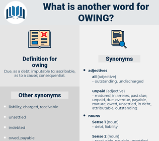 owing, synonym owing, another word for owing, words like owing, thesaurus owing