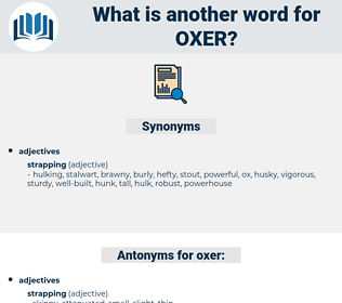 oxer, synonym oxer, another word for oxer, words like oxer, thesaurus oxer