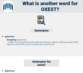 oxest, synonym oxest, another word for oxest, words like oxest, thesaurus oxest