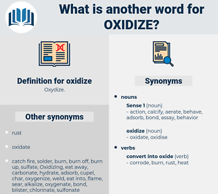 oxidize, synonym oxidize, another word for oxidize, words like oxidize, thesaurus oxidize