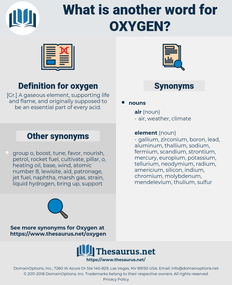 oxygen, synonym oxygen, another word for oxygen, words like oxygen, thesaurus oxygen