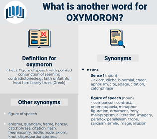 oxymoron, synonym oxymoron, another word for oxymoron, words like oxymoron, thesaurus oxymoron