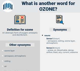 ozone, synonym ozone, another word for ozone, words like ozone, thesaurus ozone