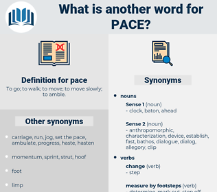 pace, synonym pace, another word for pace, words like pace, thesaurus pace