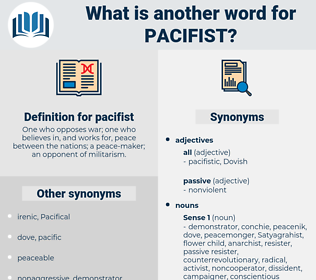 pacifist, synonym pacifist, another word for pacifist, words like pacifist, thesaurus pacifist