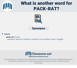 pack rat, synonym pack rat, another word for pack rat, words like pack rat, thesaurus pack rat