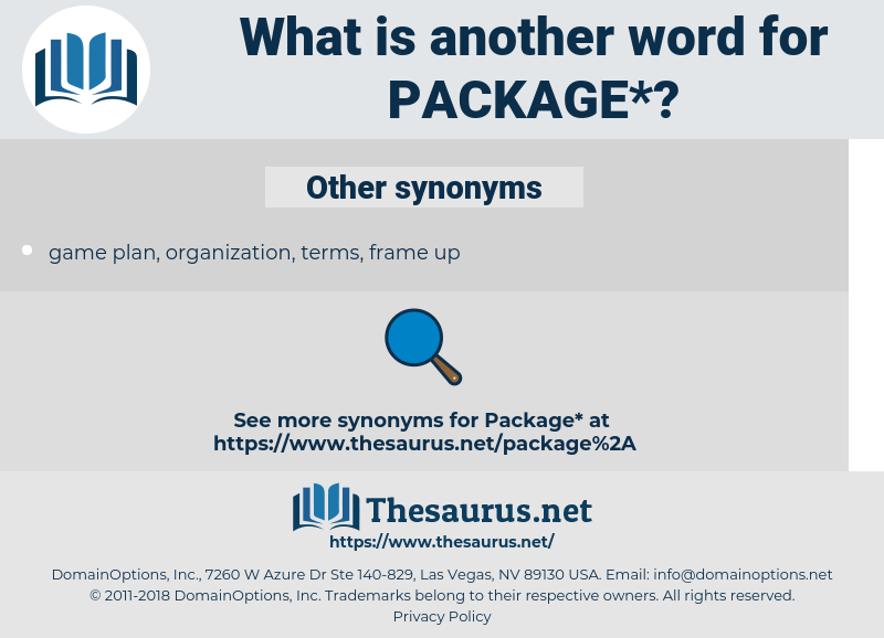 package, synonym package, another word for package, words like package, thesaurus package