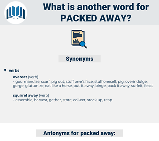packed away, synonym packed away, another word for packed away, words like packed away, thesaurus packed away
