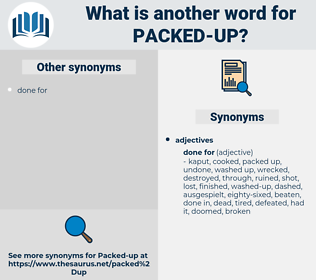 packed up, synonym packed up, another word for packed up, words like packed up, thesaurus packed up