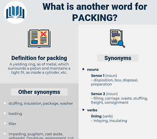 packing, synonym packing, another word for packing, words like packing, thesaurus packing