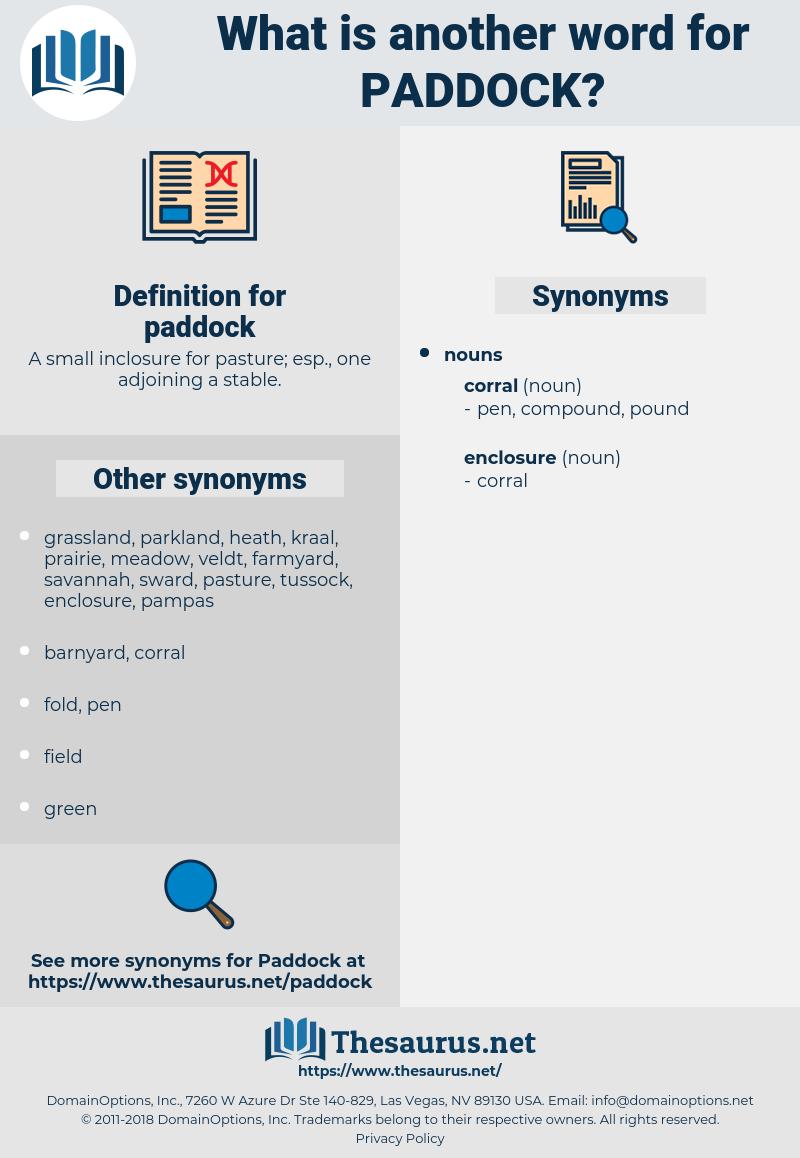 paddock, synonym paddock, another word for paddock, words like paddock, thesaurus paddock