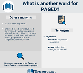 Paged, synonym Paged, another word for Paged, words like Paged, thesaurus Paged