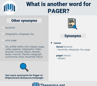 pager, synonym pager, another word for pager, words like pager, thesaurus pager