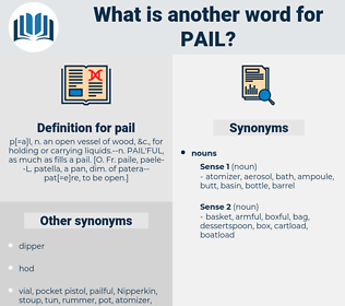 pail, synonym pail, another word for pail, words like pail, thesaurus pail
