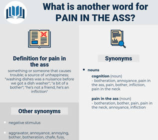 pain in the ass, synonym pain in the ass, another word for pain in the ass, words like pain in the ass, thesaurus pain in the ass