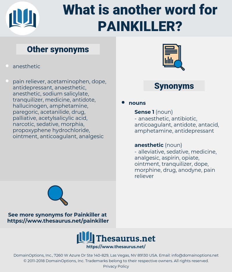 painkiller, synonym painkiller, another word for painkiller, words like painkiller, thesaurus painkiller