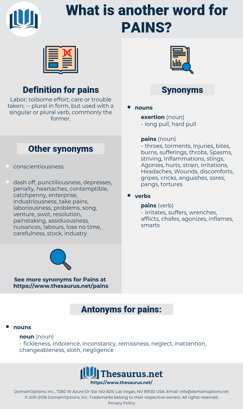 pains, synonym pains, another word for pains, words like pains, thesaurus pains