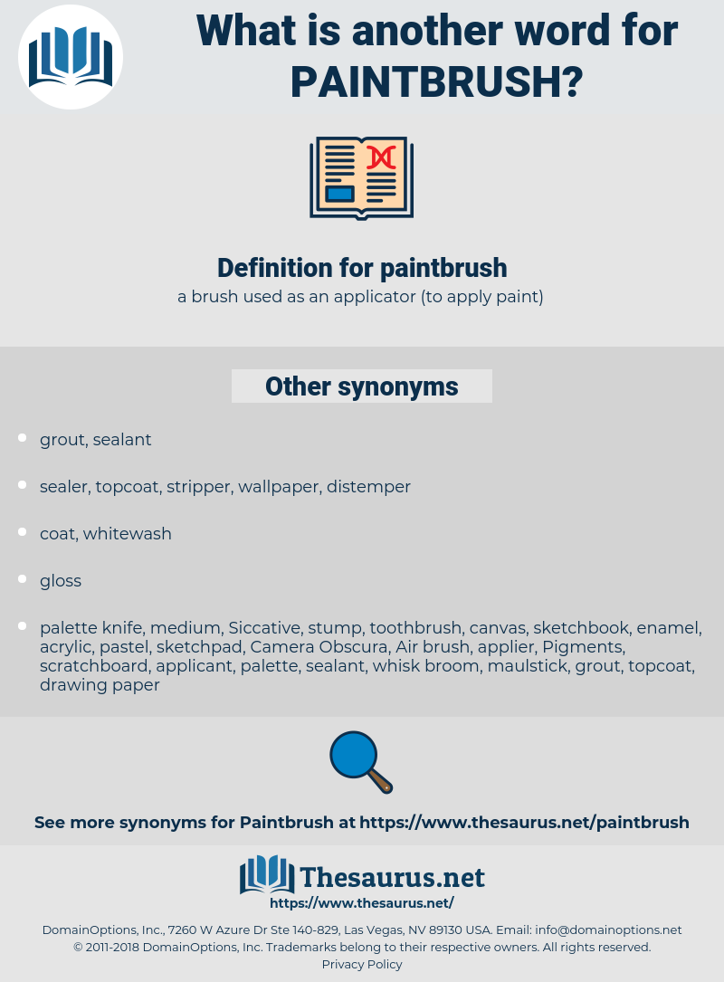 paintbrush, synonym paintbrush, another word for paintbrush, words like paintbrush, thesaurus paintbrush