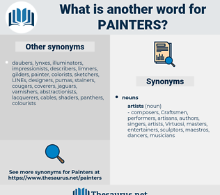 painters, synonym painters, another word for painters, words like painters, thesaurus painters