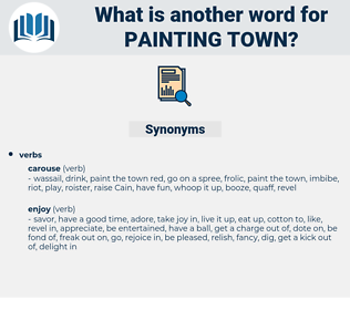 painting town, synonym painting town, another word for painting town, words like painting town, thesaurus painting town