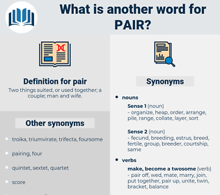 pair, synonym pair, another word for pair, words like pair, thesaurus pair