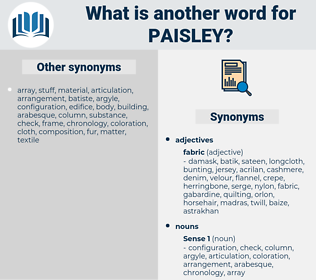 paisley, synonym paisley, another word for paisley, words like paisley, thesaurus paisley