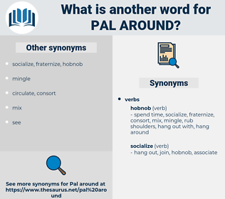 pal around, synonym pal around, another word for pal around, words like pal around, thesaurus pal around