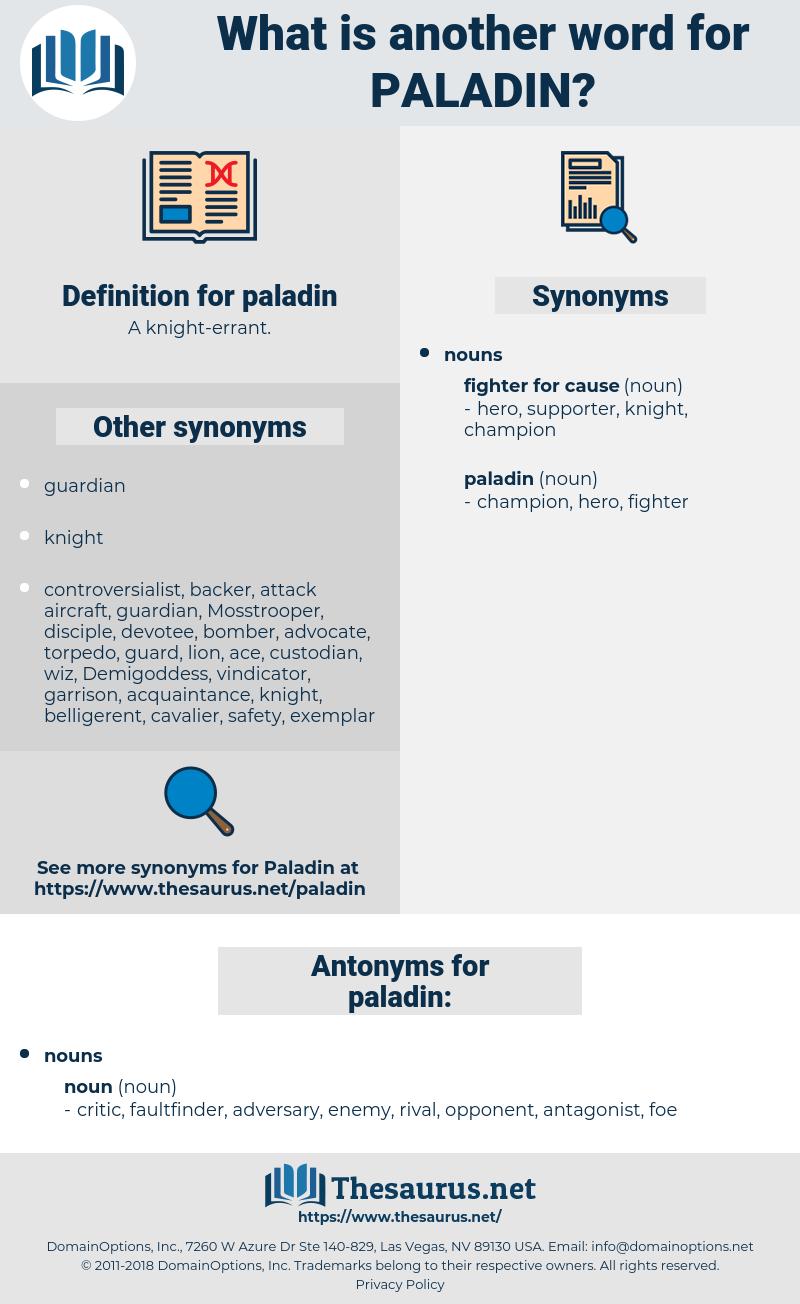 paladin, synonym paladin, another word for paladin, words like paladin, thesaurus paladin