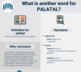palatal, synonym palatal, another word for palatal, words like palatal, thesaurus palatal