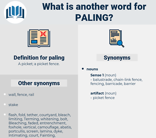 paling, synonym paling, another word for paling, words like paling, thesaurus paling
