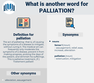 palliation, synonym palliation, another word for palliation, words like palliation, thesaurus palliation