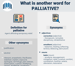 palliative, synonym palliative, another word for palliative, words like palliative, thesaurus palliative