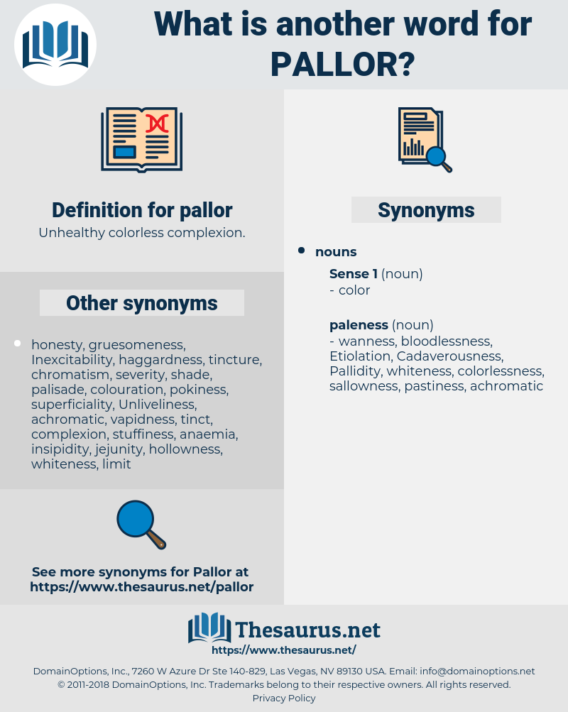pallor, synonym pallor, another word for pallor, words like pallor, thesaurus pallor