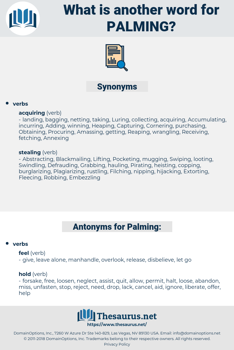 Palming, synonym Palming, another word for Palming, words like Palming, thesaurus Palming
