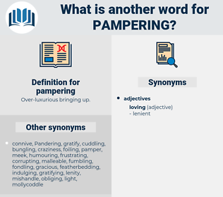 pampering, synonym pampering, another word for pampering, words like pampering, thesaurus pampering