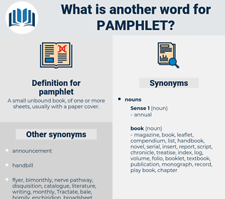 pamphlet, synonym pamphlet, another word for pamphlet, words like pamphlet, thesaurus pamphlet