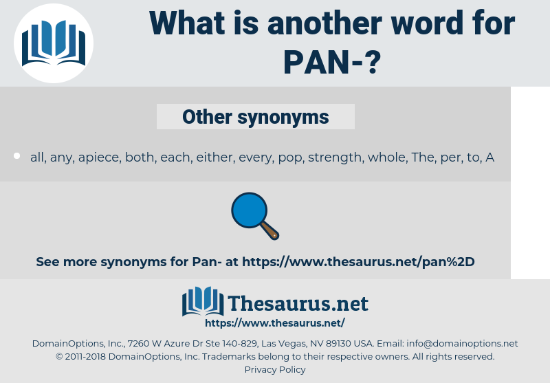 pan, synonym pan, another word for pan, words like pan, thesaurus pan