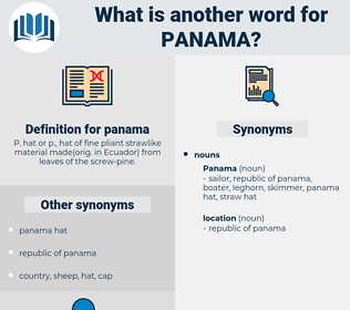 panama, synonym panama, another word for panama, words like panama, thesaurus panama
