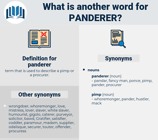 panderer, synonym panderer, another word for panderer, words like panderer, thesaurus panderer