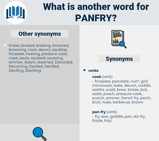 panfry, synonym panfry, another word for panfry, words like panfry, thesaurus panfry