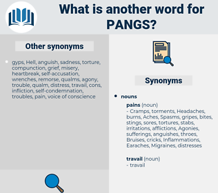 pangs, synonym pangs, another word for pangs, words like pangs, thesaurus pangs
