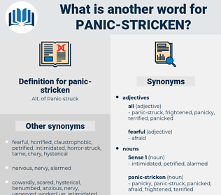 panic stricken, synonym panic stricken, another word for panic stricken, words like panic stricken, thesaurus panic stricken