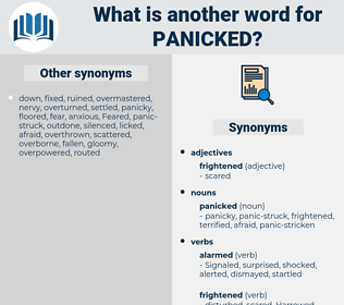 panicked, synonym panicked, another word for panicked, words like panicked, thesaurus panicked