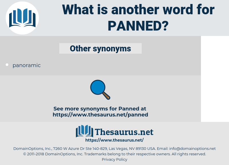 Panned, synonym Panned, another word for Panned, words like Panned, thesaurus Panned